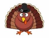 Thanksgiving turkey digital embroidery design, Turkey digitized embroidery design