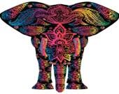 Cross stitch elephant floral design pdf pattern