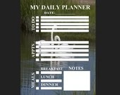 Planner for daily activity with swans background pdf template