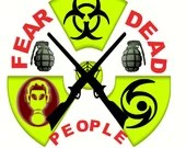 Zombie fear the dead embroidery design, Zombie fear the dead digitized embroidery design