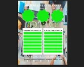 Business planner with background pdf template