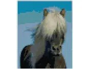 Cross stitch iceland horse pdf pattern