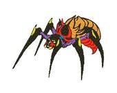 Monster spider embroidery design, Monster spider embroidery digitized  design