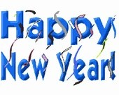 Happy new year digital embroidery design, New year digitized embroidery design
