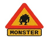 Monster embroidery sign design, Monster embroidery sign digitized  design