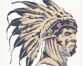 Native american art digital embroidery design, Native american digitized embroidery design