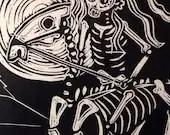 Bones of Godiva, sugar skull, skeleton horse. limited edition