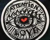 """Attention Love! vinyl sticker 4"""""""