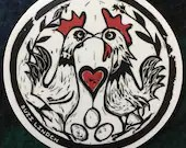 """Chicken Eyed Wish vinyl sticker 4"""""""
