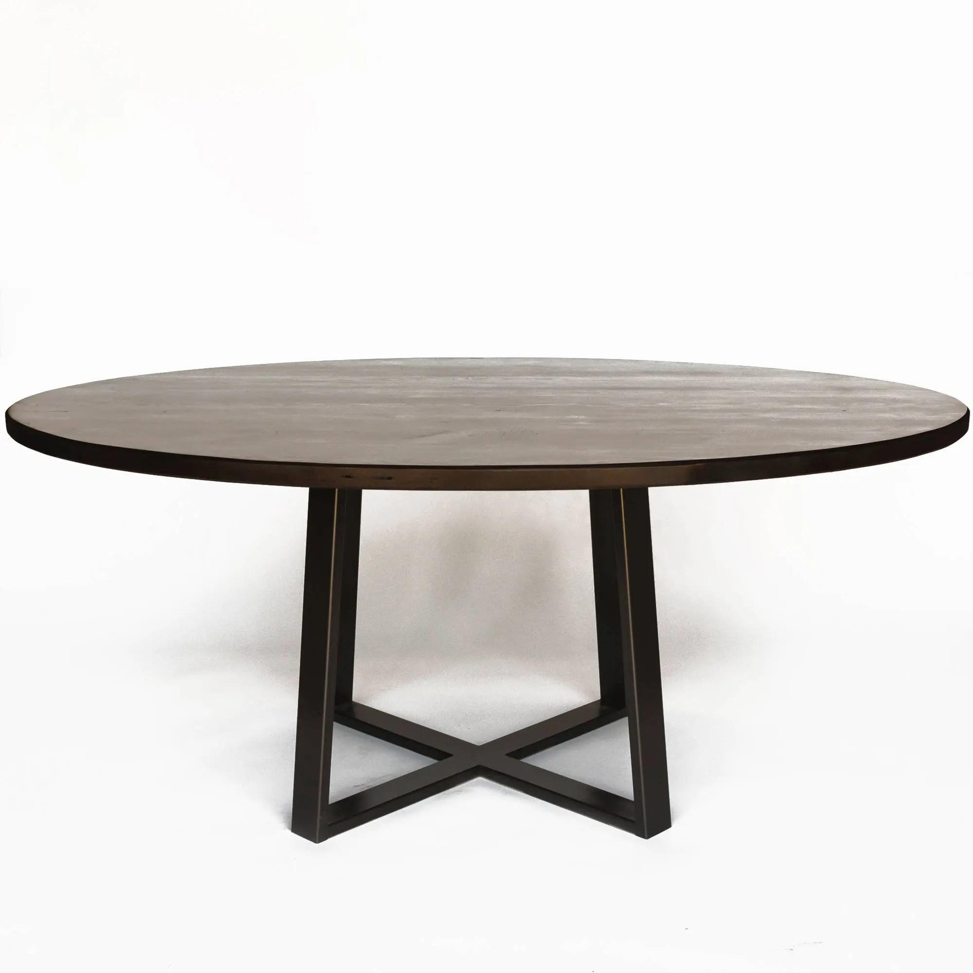 grande table a manger ronde table ronde ou table ovale choix de la taille et de la finition