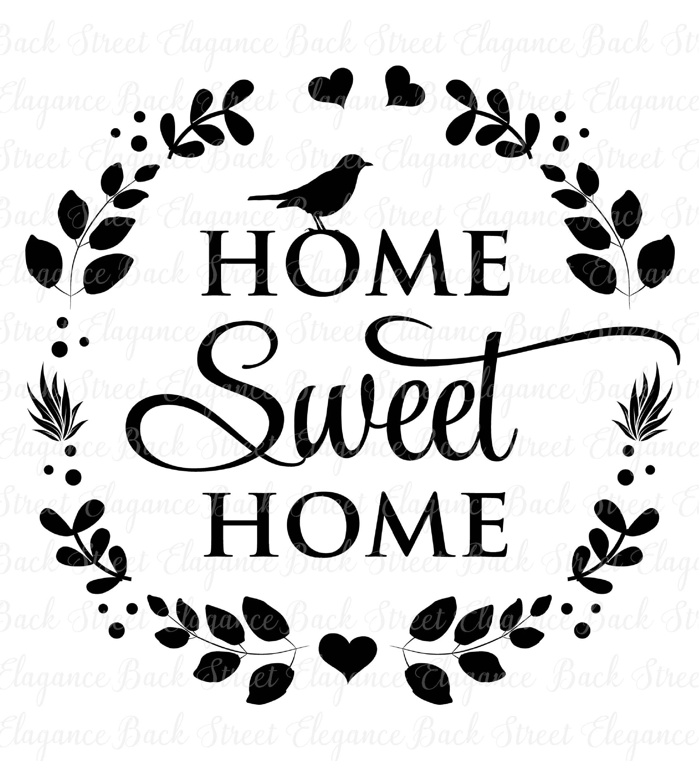 Home Sweet Home Svg Eps Dxf Cutting File