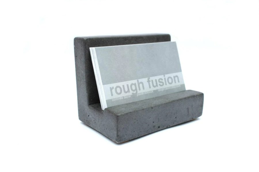 SALE  Concrete Business Card Holder   Etsy         zoom