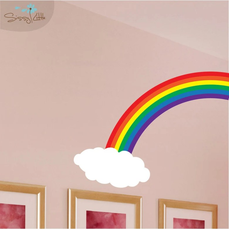 Rainbow Cloud Decal by SissyLittle