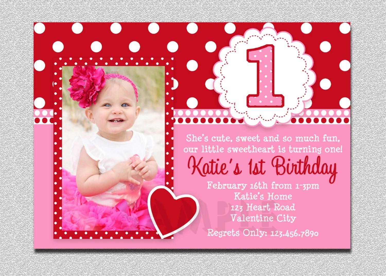 valentines birthday invitation 1st birthday valentines birthday party invitation pink and red valentine birthday party invitation