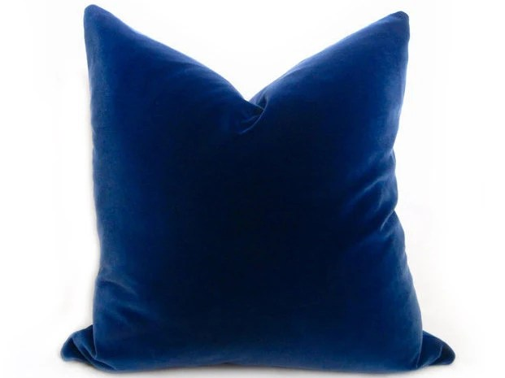 belgium blue velvet pillow cover regal navy more sizes royal blue pillow blue blue velvet pillow decorative pillow solid