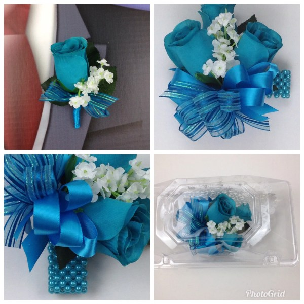 Turquoise wedding   Etsy New Artificial Turquoise Rose Corsage  Turquoise Rose Mother s Corsage   Turquoise Corsage  Turquoise Wedding Flowers