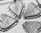 Large Silver Scalloped Heart Sweater pin/Brooch and Pendant, (safetypin project)