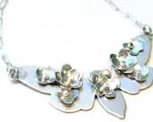 Sterling Silver Blossom Cicada Pendant (P-SSBC)