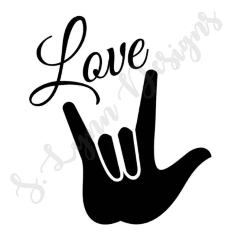 Download ASL Love Sign SVG | Etsy
