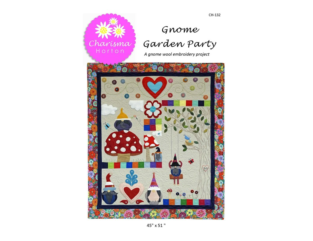 Gnome Garden Party Paper pattern