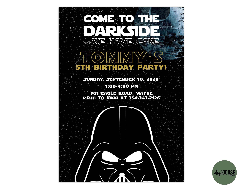 Editable Star Wars Invitation Template Printable Star Wars Etsy