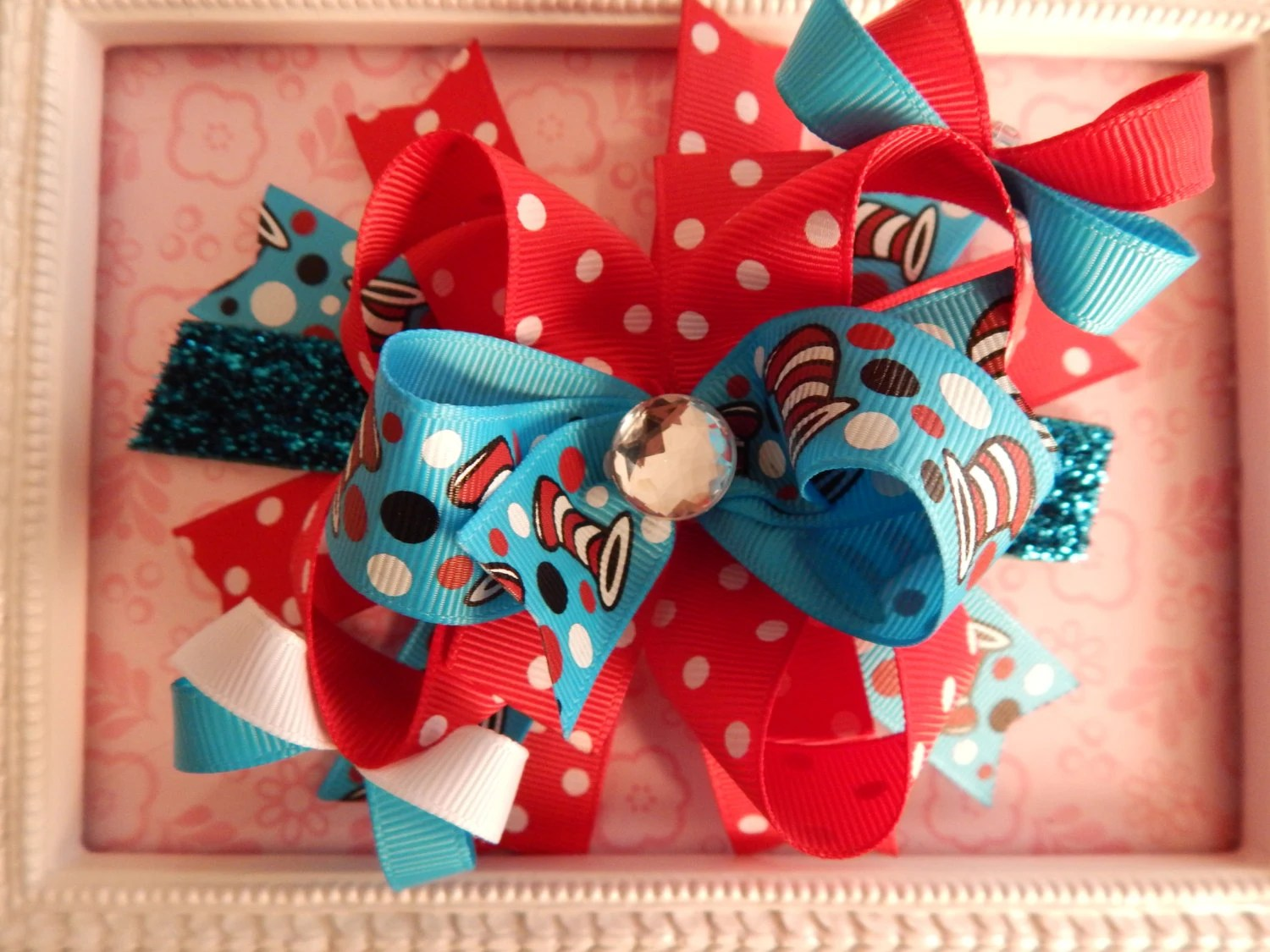 Hair Bow Boutique Hair Bow Over The Top Hair Bow Thing 1