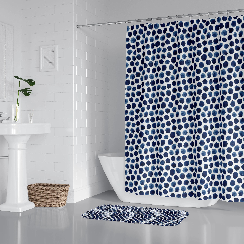 navy shower curtain etsy