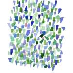 Sea Glass Art Print Watercolor Print Abstract Watercolor