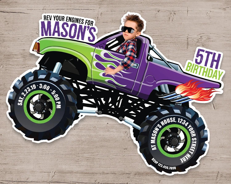 monster truck birthday invitation monster truck invitations monster truck birthday party personalized monster truck invites