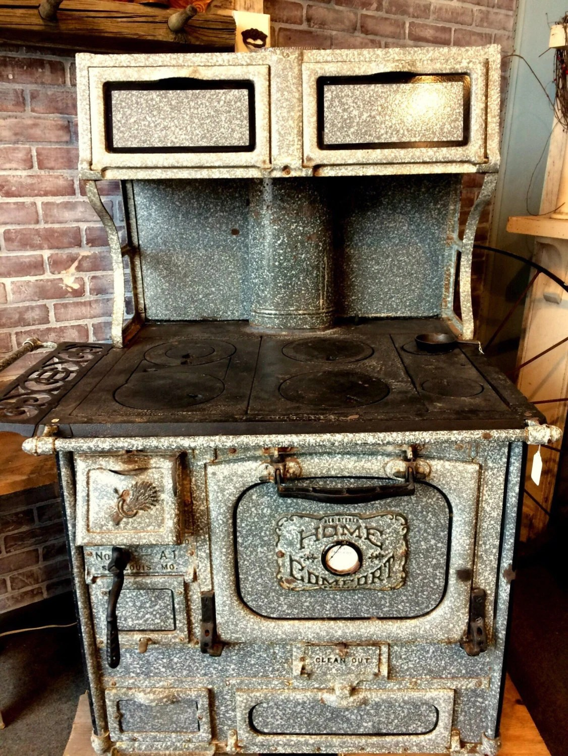 SALE Antique Wood Stove Granite Cook Stove Home Comfort Etsy