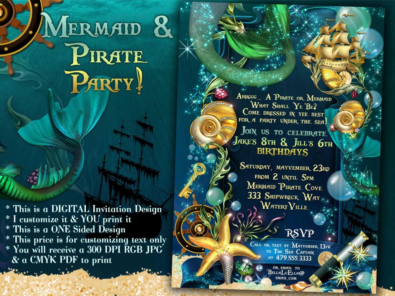 mermaid pirate party mermaid under sea