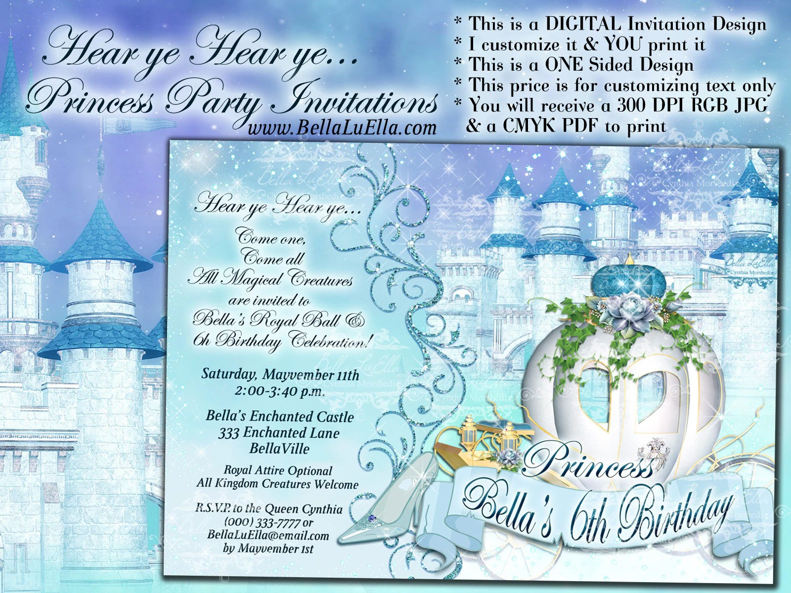 cinderella party princess party