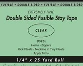 Double Sided Fusible Stay Tape - 1/4""
