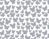 Lotta Jansdotter Fabric - Lilla - Minna in Grey  Blue