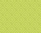 Modern Key Quilt Backing Fabric - Avocado