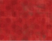 "Moda Grunge by Basic Grey - 108"" wide quilt backing - Hits the Spot - Red"
