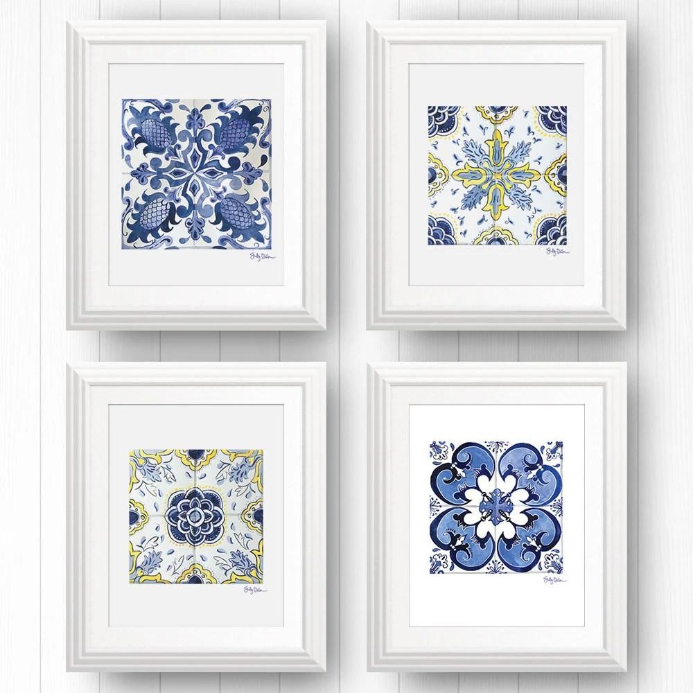 talavera tile wall art azulejo portuguese tile art mexican etsy