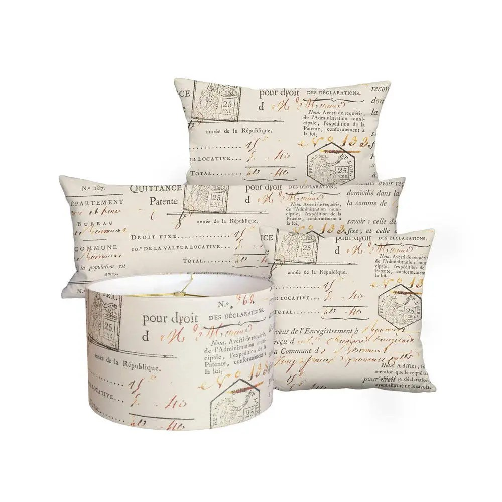 beige french country document linen cotton pillow cover pillow 16x26 14x36 14x26 14x20 12x20 12x18 16x 18x 20x 22x 24x 26x 28x inch