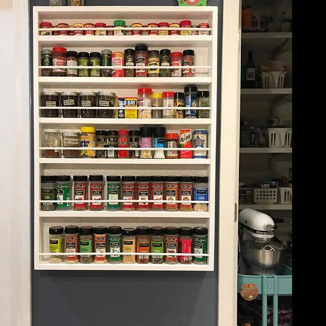 spice rack for the back of the door or mounted on wall etsy