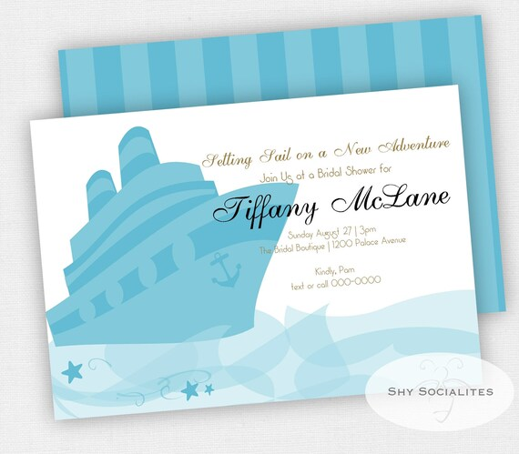 Cruise Ship Invitation Cruise Themed Bridal Shower Instant Download Template Editable Text Pdf