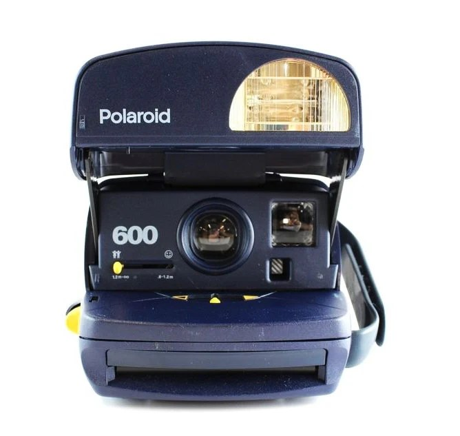 vintage polaroid one step express appareil photo instantane 600 film bleu fonctionne teste