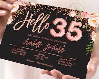 hello 30 invitation etsy