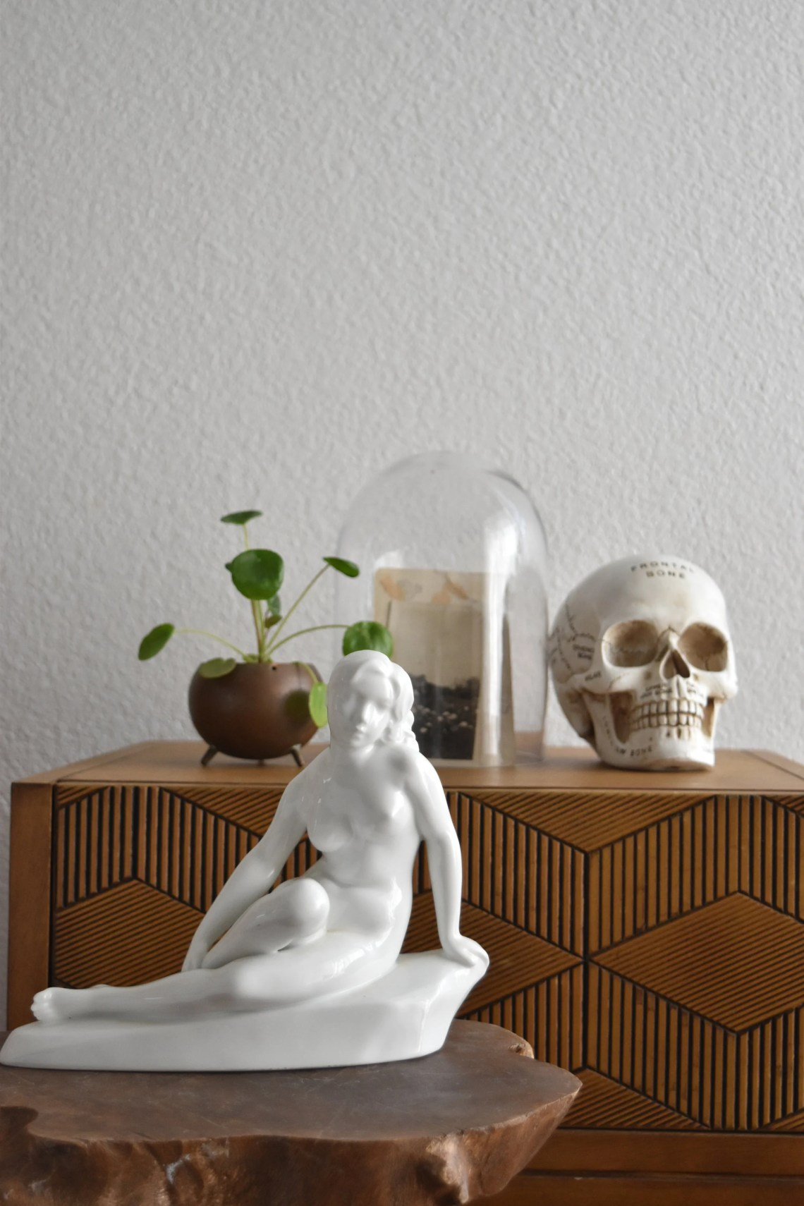 naked nude white ceramic girl figurine statue   woman lady ...