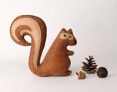 Squirrel Sewing Pattern, Stuffed Squirrel Hand Sewing Pattern, Felt Squirrel Pattern, Easy to Sew Woodland Squirrel Softie, Plush Chipmunk