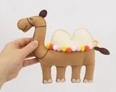 Camel Sewing Pattern, Felt Camel Stuffed Animal Instructions PDF, Instant Digital Download
