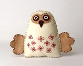 Felt Owl Sewing Pattern, Stuffed Owl Hand Sewing Pattern, Woodland Owl, Barn Owl Softie, Plush Owl Decor, Felt Owl Stuffie, Embroidered Owl