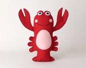 Lobster Sewing Pattern, Stuffed Red Lobster Pattern, Plush Felt Lobster Sewing Pattern, Lobster Softie, Crustacean Ocean Sea Creature, PDF