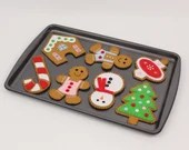 Gingerbread Cookie Sewing Patterns, Instructions for Hand Stitching Felt Christmas Tree Ornaments