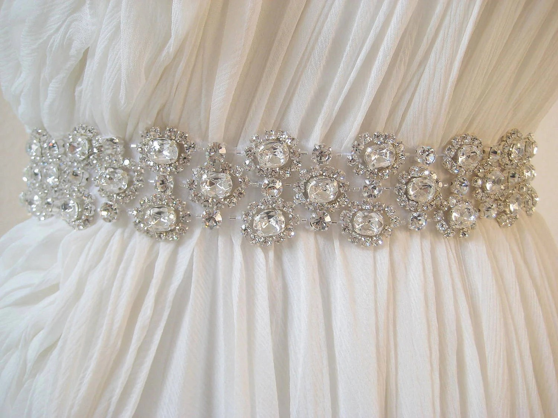 Bridal Luxury Beaded Czechoslovakia Crystal Sash