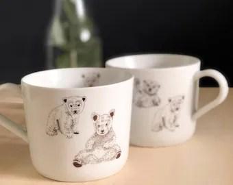ours autocollant de porcelaine